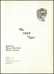 Page 5, 1959 Edition, Murray High School - Tiger Yearbook (Murray, KY) online yearbook collection