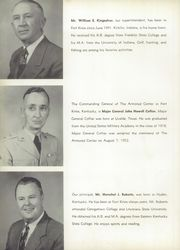 Page 12, 1954 Edition, Fort Knox High School - Eagle Yearbook (Fort Knox, KY) online yearbook collection
