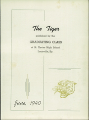 Page 7, 1940 Edition, St Xavier High School - Tiger Yearbook (Louisville, KY) online yearbook collection