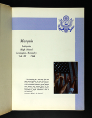 Page 5, 1965 Edition, Lafayette High School - Marquis Yearbook (Lexington, KY) online yearbook collection
