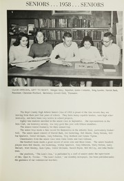 Page 15, 1958 Edition, Boyd County High School - Heritage Yearbook (Ashland, KY) online yearbook collection