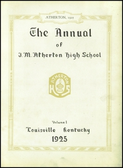 Page 7, 1925 Edition, Atherton High School - Annual Yearbook (Louisville, KY) online yearbook collection