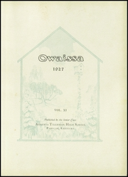 Page 5, 1927 Edition, Paducah Tilghman High School - Owaissa Yearbook (Paducah, KY) online yearbook collection