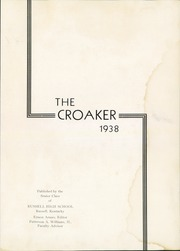 Page 7, 1938 Edition, Russell High School - Croaker Yearbook (Russell, KY) online yearbook collection