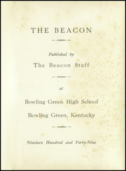 Page 5, 1949 Edition, Bowling Green High School - Beacon Yearbook (Bowling Green, KY) online yearbook collection