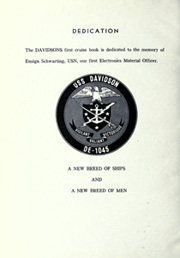 Page 4, 1967 Edition, Davidson (DE 1045) - Naval Cruise Book online yearbook collection