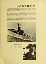 Page 5, 1970 Edition, Davidson (DE 1045) - Naval Cruise Book online yearbook collection