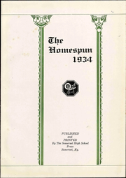 Page 9, 1934 Edition, Somerset High School - Homespun Yearbook (Somerset, KY) online yearbook collection