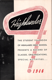 Page 9, 1946 Edition, Highlands High School - Highlander Yearbook (Fort Thomas, KY) online yearbook collection
