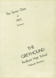 Page 5, 1953 Edition, Reidland High School - Greyhound Yearbook (Paducah, KY) online yearbook collection