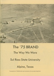 Page 5, 1975 Edition, Sul Ross State Teachers College - Brand Yearbook (Alpine, TX) online yearbook collection