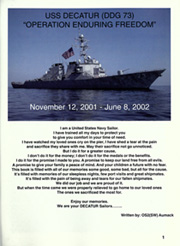 Page 5, 2002 Edition, Decatur (DDG 73) - Naval Cruise Book online yearbook collection