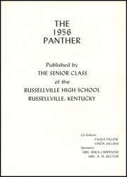 Page 5, 1956 Edition, Russellville High School - Panther Yearbook (Russellville, KY) online yearbook collection