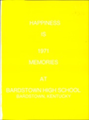 Page 5, 1971 Edition, Bardstown High School - Memories Yearbook (Bardstown, KY) online yearbook collection