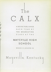Page 7, 1934 Edition, Maysville High School - Calx Yearbook (Maysville, KY) online yearbook collection