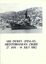 Page 5, 1982 Edition, Dewey (DDG 45) - Naval Cruise Book online yearbook collection