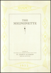 Page 7, 1923 Edition, St Marys Academy - Mignonette Yearbook (Paducah, KY) online yearbook collection