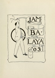 Page 11, 1903 Edition, Tulane University - Jambalaya Yearbook (New Orleans, LA) online yearbook collection