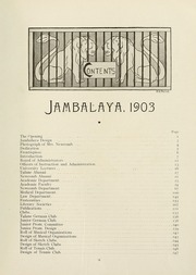 Page 17, 1903 Edition, Tulane University - Jambalaya Yearbook (New Orleans, LA) online yearbook collection