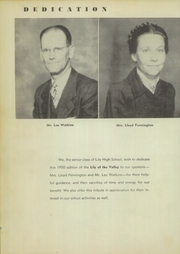 Page 6, 1950 Edition, Lily High School - Lily of the Valley Yearbook (Lily, KY) online yearbook collection