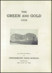 Page 5, 1936 Edition, Greensburg High School - Green and Gold Yearbook (Greensburg, KY) online yearbook collection
