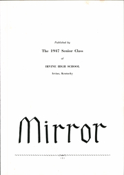 Page 5, 1947 Edition, Irvine High School - Mirror Yearbook (Irvine, KY) online yearbook collection