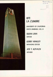Page 7, 1971 Edition, University of California Santa Barbara - La Cumbre Yearbook (Santa Barbara, CA) online yearbook collection