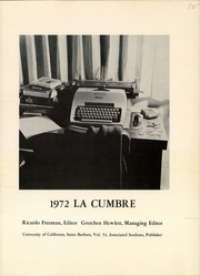 Page 3, 1972 Edition, University of California Santa Barbara - La Cumbre Yearbook (Santa Barbara, CA) online yearbook collection