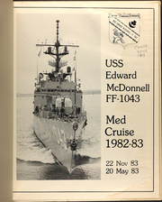 Page 3, 1983 Edition, Edward McDonnell (FF 1043) - Naval Cruise Book online yearbook collection