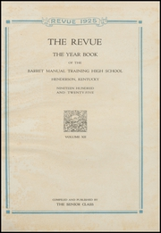 Page 5, 1925 Edition, Barret Manual Training High School - Revue Yearbook (Henderson, KY) online yearbook collection