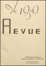 Page 5, 1939 Edition, Barret Manual Training High School - Revue Yearbook (Henderson, KY) online yearbook collection