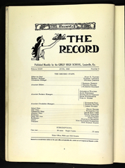 Page 10, 1923 Edition, Louisville Girls High School - Record Yearbook (Louisville, KY) online yearbook collection