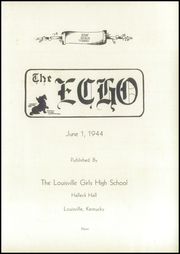 Page 7, 1944 Edition, Louisville Girls High School - Record Yearbook (Louisville, KY) online yearbook collection