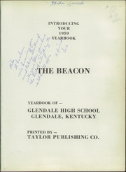 Page 5, 1959 Edition, Glendale High School - Beacon Yearbook (Glendale, KY) online yearbook collection