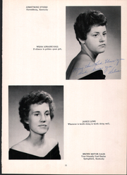 Page 15, 1960 Edition, Mackville High School - Thorobred Yearbook (Mackville, KY) online yearbook collection