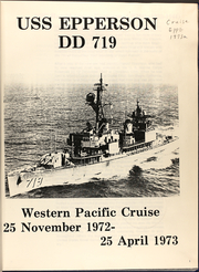 Page 3, 1973 Edition, Epperson (DD 719) - Naval Cruise Book online yearbook collection