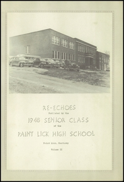 Page 7, 1948 Edition, Paint Lick High School - Re Echoes Yearbook (Paint Lick, KY) online yearbook collection