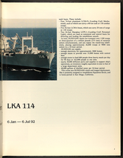 Page 7, 1992 Edition, Durham (LKA 114) - Naval Cruise Book online yearbook collection