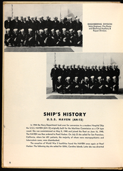 Page 8, 1951 Edition, Haven (AH 12) - Naval Cruise Book online yearbook collection