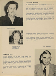 Page 15, 1954 Edition, University of Louisville Arts and Sciences - Thoroughbred Yearbook (Louisville, KY) online yearbook collection