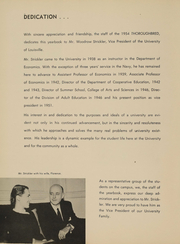 Page 9, 1954 Edition, University of Louisville Arts and Sciences - Thoroughbred Yearbook (Louisville, KY) online yearbook collection