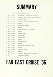 Page 10, 1956 Edition, Helena (CA 75) - Naval Cruise Book online yearbook collection