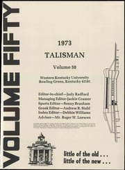 Page 9, 1973 Edition, Western Kentucky University - Talisman Yearbook (Bowling Green, KY) online yearbook collection