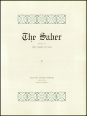 Page 9, 1936 Edition, Kentucky Military Institute - Saber Yearbook (Lyndon, KY) online yearbook collection