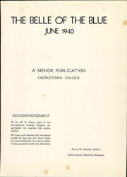 Page 7, 1940 Edition, Georgetown College - Belle of the Blue Yearbook (Georgetown, KY) online yearbook collection