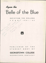 Page 7, 1942 Edition, Georgetown College - Belle of the Blue Yearbook (Georgetown, KY) online yearbook collection
