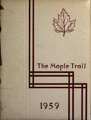 1959 Edition, Campbellsville University - Maple Trail Yearbook (Campbellsville, KY)
