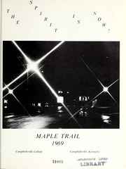 Page 5, 1969 Edition, Campbellsville University - Maple Trail Yearbook (Campbellsville, KY) online yearbook collection