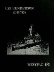1971 Edition, Henderson (DD 785) - Naval Cruise Book