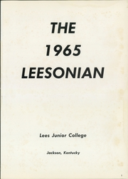 Page 5, 1965 Edition, Lees College - Leesonian Yearbook (Jackson, KY) online yearbook collection